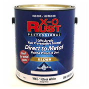 X-O Rust Anti-Rust Enamel, Gloss Finish, Safety White, Gallon - 176809
