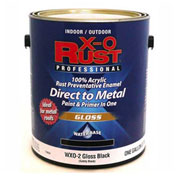 X-O Rust Anti-Rust Enamel, Gloss Finish, Safety Black, Gallon - 176834