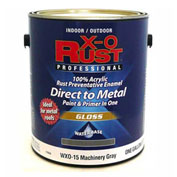 X-O Rust Anti-Rust Enamel, Gloss Finish, Machinery Gray, Gallon - 176836