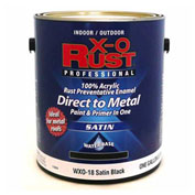 X-O Rust Anti-Rust Enamel, Satin Finish, Satin Black, Gallon - 176839