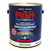 X-O Rust Anti-Rust Enamel, Gloss Finish, Hot Red, Gallon - 176841