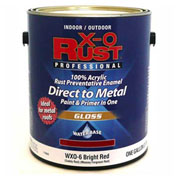 X-O Rust Anti-Rust Enamel, Gloss Finish, Bright Red, Gallon - 176842