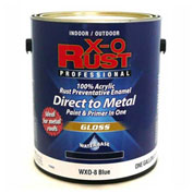 X-O Rust Anti-Rust Enamel, Gloss Finish, Blue, Gallon - 176843