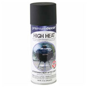 Premium Décor High Heat Enamel Spray 12 oz. Aerosol Can, Black - 348458