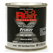X-O Rust Oil Base Primer, Red Metal Primer, 1/2-Pint - 362400
