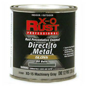 X-O Rust Oil Base DTM Enamel, Gloss Finish, Machinery Gray, 1/2-Pint - 372581