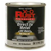 X-O Rust Oil Base DTM Enamel, Gloss Finish, Aluminum, 1/2-Pint - 427104