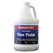 Maintenance One Semi-Buffable Floor Finish, 1 Gallon Bottle, 1/Case - 512593