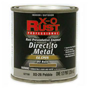 X-O Rust Oil Base DTM Enamel, Gloss Finish, Pebble, 1/2-Pint - 527150