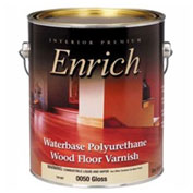 Enrich Varnish & Floor Finish, Waterbase, Gloss Finish, Gallon - 542722