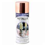 Premium Décor Decorative Metallic Spray 12 oz. Aerosol Can, Copper, Metallic - 793326