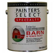 Painter's Select Oil Gloss Barn & Fence Paint, Gloss Finish, White, Gallon - 798348