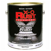 X-O Rust Anti-Rust Enamel, Galvanized & Aluminum Primer, White, Gallon - 801969