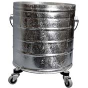 "Geerpres® 8 Gallon Galvanized Steel Mop Bucket on 2"" Casters, Geerpres 2023"