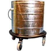 "Geerpres® 8 Gallon Galvanized Steel Mop Bucket on 3"" Casters w/Bumper, Geerpres 2052"