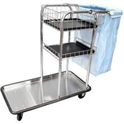 Wagon-Master® Janitor Cart W/ Stainless Steel Bottom Tray