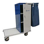 "Geerpres Escort® 3645 Epoxy Coated Housekeeping Cart - 32"" Long"