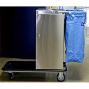Escort® Stainless Steel Housekeeping Cart W/ Vacuum Carrier