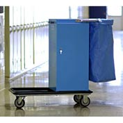 Genesis™ Powder Coated Housekeeping Cart W/ Self Locking Door