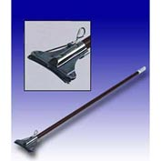 "Featherweight™ 60"" Vinyl Covered Aluminum Mop Handle W/ Electroplated Holder"
