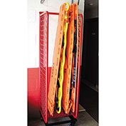 Red Rack™ Mobile Back Board Rack Locker BBR-M - Red