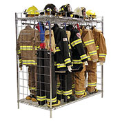 """Ready Rack® Double Sided Freestanding Gear Storage Locker FDS-18/24 - (18) 24"""" Sections, Chrome"""