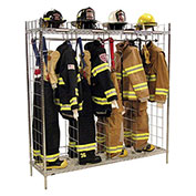 "Ready Rack® Single Sided Freestanding Gear Storage Locker FSS-24/18 - (24) 18"" Sections, Chrome"