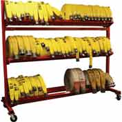 "Ready Racks™ Three-Tier Hose Cart - Holds Up to 3000' of 2-1/2"" Hose"