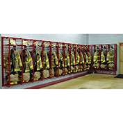 """Red Rack™ Wall Mounted Gear Storage Rack Locker RRWM-2/24 - Two 24"""" Sections, Red"""