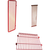 "Security Options of Top Shelf, Lockable Door for Each 18"" Red Rack™ Wall Mounted Section, Red"