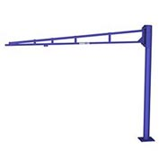 Gorbel® LD Free Standing Tool Solutions Jib Crane, 12' Span & 10' Height Under Boom, 150 Lb Cap