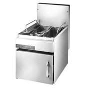 Countertop Gas Fryer, 16 lb, Nat Gas
