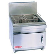 Countertop Gas Fryer, 28 lb, Nat Gas