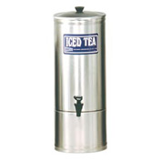 Stainless Steel Iced Tea Dispensers, 5 Gallon