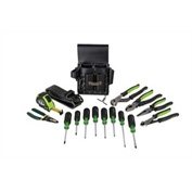 Greenlee 0159-24 Electrician's Metric Tool Kit 16 Piece