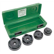 "Greenlee 7304 Standard Round Knockout Punch Kit, 2-1/2""x4"""
