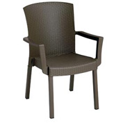 Grosfillex® Havana Classic Outdoor Armchair - Espresso (Sold in Pk. Qty 12) - Pkg Qty 12