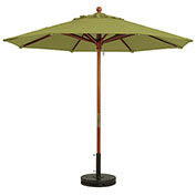 Grosfillex® 9' Wooden Market Outdoor Umbrella - Pesto