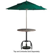 Grosfillex® Bar Height Tulip Outdoor Table Base - Black (Sold in Pkg. Qty. 2) - Pkg Qty 2