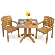 "Grosfillex® Winston 36"" Square Outdoor  Table - Teak"