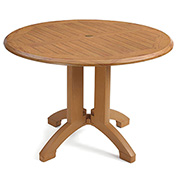 "Grosfillex® Winston 42"" Round Outdoor  Table - Teak"