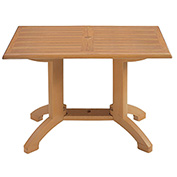 "Grosfillex® Winston 48"" x 32"" Outdoor Table - Teak"