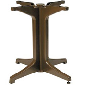 Grosfillex Alpha Resin Large Outdoor Pedestal Table Base 2000 Bronze Mist