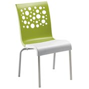 Grosfillex® Tempo Chair, Fern Green / White 12 Pack - Pkg Qty 12