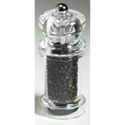 "Mr. Dudley® Peppermills MrD8105 - Kingston Acrylic Peppermill, Clear, 4-1/2""H x 2""W x 2""D"