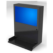 "PC Enclosures PC Defender Computer & Monitor Enclosure, 24""W x 6-1/2""D x 30""H, Black"