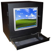 "Computer & Monitor Enclosure, Black, 21""W x 18""H"