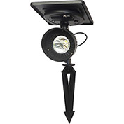 Gama Sonic 103001-5 Progressive Solar Spotlight, Warm-White LED, Black