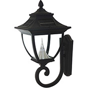Gama Sonic 104010 Pagoda Solar LED Outdoor Wall Light, Black