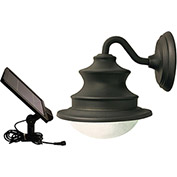 Gama Sonic 12201 Barn Solar LED Outdoor Wall Light, Brown